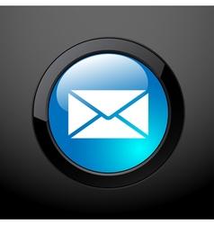 button envelope vector image vector image