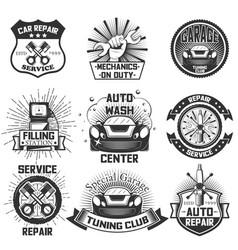 car service logos vintage labels badges vector image vector image