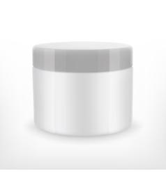 Cream jar mock-up vector