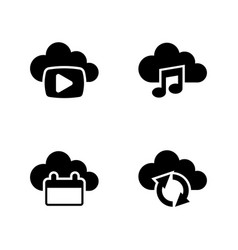 data synchronisation simple related icons vector image vector image