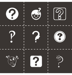 FAQ icons set vector image