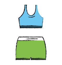 female gym wear icon vector image vector image