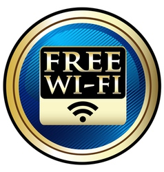 Free WiFi Emblem vector image vector image