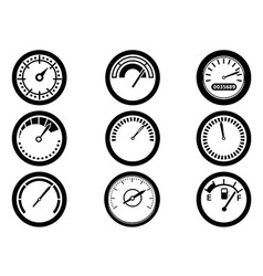 gauge icons vector image vector image