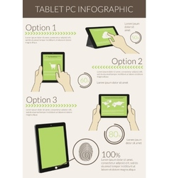 Infographic visualization of usability tablet pc vector