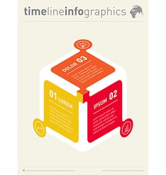 infographic Web Template for diagram or vector image