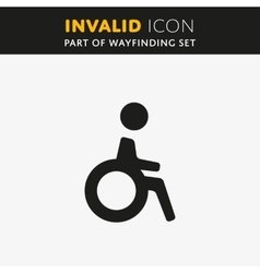 Invalid icon vector image vector image