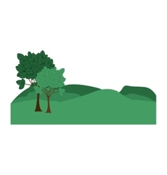 landscape with mountains and trees vector image