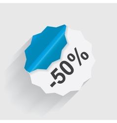 Paper Discount label vector image