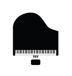 Piano with chair in black vector