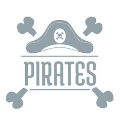 pirate bone logo simple gray style vector image