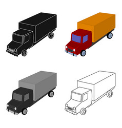 Red truck with a yellow body the car for cargo vector