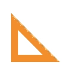 Rule triangle isolated icon vector