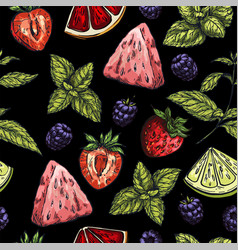 seamless pattern on black background vector image
