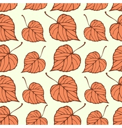 Seamless pattern with falling leaves vector