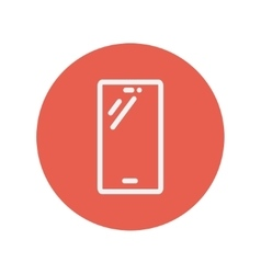 Smartphone thin line icon vector