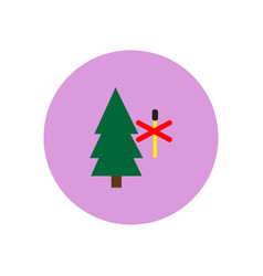 Stylish icon in circle forest fire ban vector