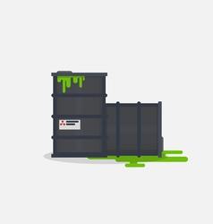 Toxic barrels vector image vector image