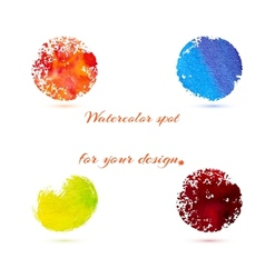 Watercolor brush strokes and circle splashes vector
