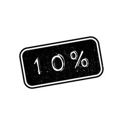 10 percent rubber stamp vector