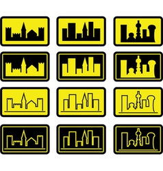 Set of city signs vector