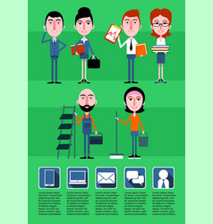 business people infographic template vector image