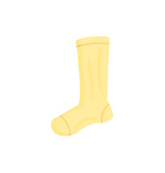 yellow long sport sock ector vector image