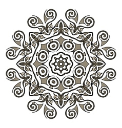 Lace mandala vector