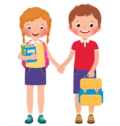 Children boy and girl pupils of the school vector