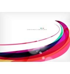 Purple rainbow swirl background vector image