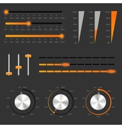 Audio controls vector