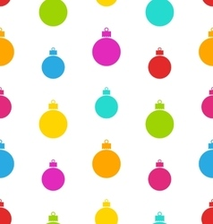 Seamless pattern christmas balls vector