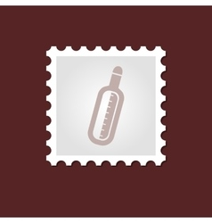 Thermometer medical stamp vector