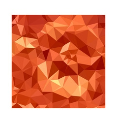Atomic tangerine orange abstract low polygon vector