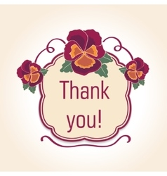 vintage thank you cards for wedding decoration or vector image