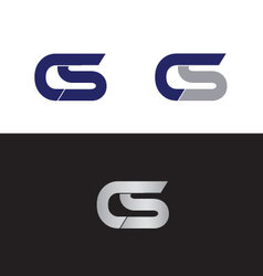 Cs initials vector