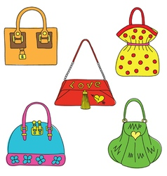 Handbags paint vector
