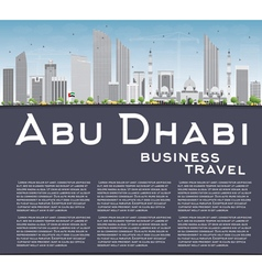 Abu Dhabi City Skyline with Gray Buildings vector image