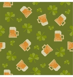 Big pixels styled st partick day seamless pattern vector