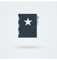Book icon simple flat design vector
