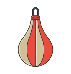 Pair of red boxing bag vector