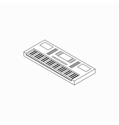 Synthesizer icon isometric 3d style vector