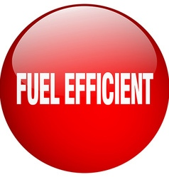 Fuel efficient red round gel isolated push button vector