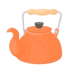 Kettle icon in cartoon style vector