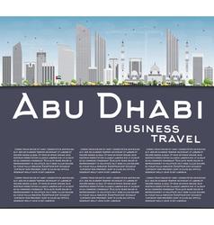 Abu Dhabi City Skyline with Gray Buildings vector image vector image