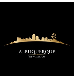 Albuquerque New Mexico city skyline silhouette vector image