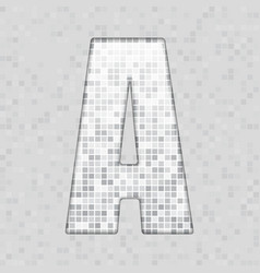 Alphabet grey tile figure letter and sing vector