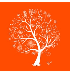 Art floral tree for your design vector image