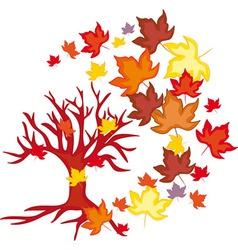 Autumn leaves fall vector