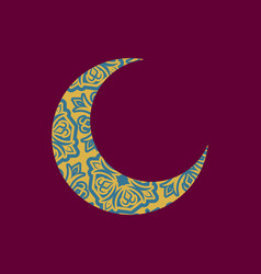 crescent arab pattern for eid mubarak ramadan vector image